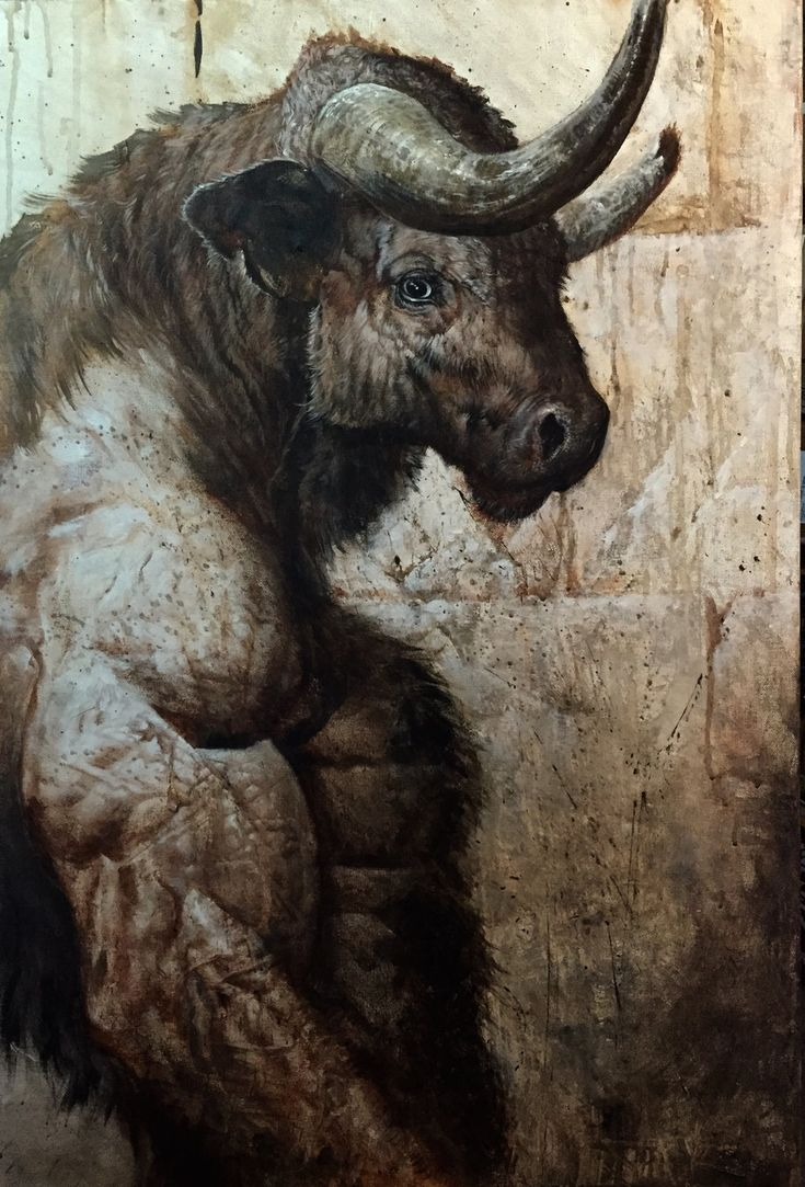Minotaur by LiamSharp acrylic on canvas monster beast creature animal  Create your own