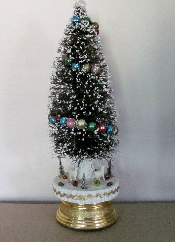 1000 images about bottle brush ornaments on pinterest for Bottle brush christmas tree decorations