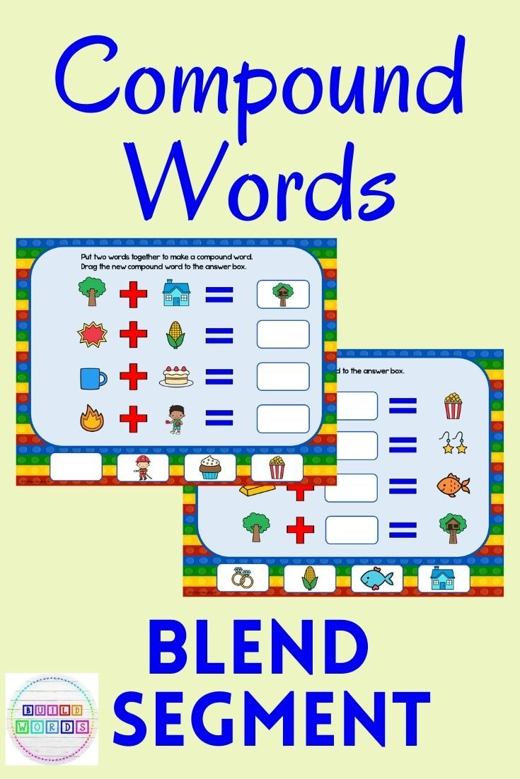 Compound Words Blend And Segment Word Parts Language Therapy Activities Compound Words Compound Words Activities [ 1102 x 735 Pixel ]
