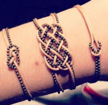 Bracelets nœuds marins et chinois