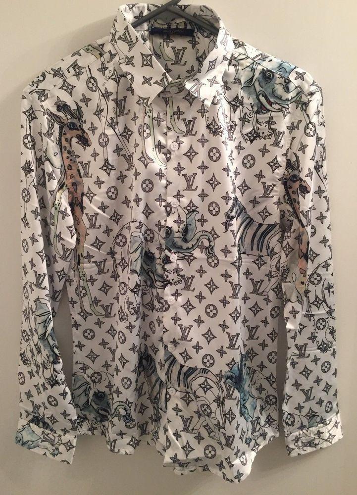62102c5b Monogram Animal Print Louis Vuitton Shirt size M #fashion #clothing #shoes # accessories #mensclothing #shirts (ebay link)