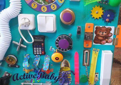 Купить или заказать Бизиборд в интернет-магазине на Ярмарке Мастеров. Бизиборды - развивающие доски или доски с замочками для деток. Это модная на сегодня игрушка точно не останется без внимания не только со стороны детей, но и взрослых. Яркая, интересная, полезная игрушка будет притягивать внимания малыша очень долгое время и подарит родителям время на отдых. Подойдет деткам от 8-ми месяцев и до 4-х лет. Все любимые детками замочки, крючочки, розетки, включатели, и все безопасно, можно…