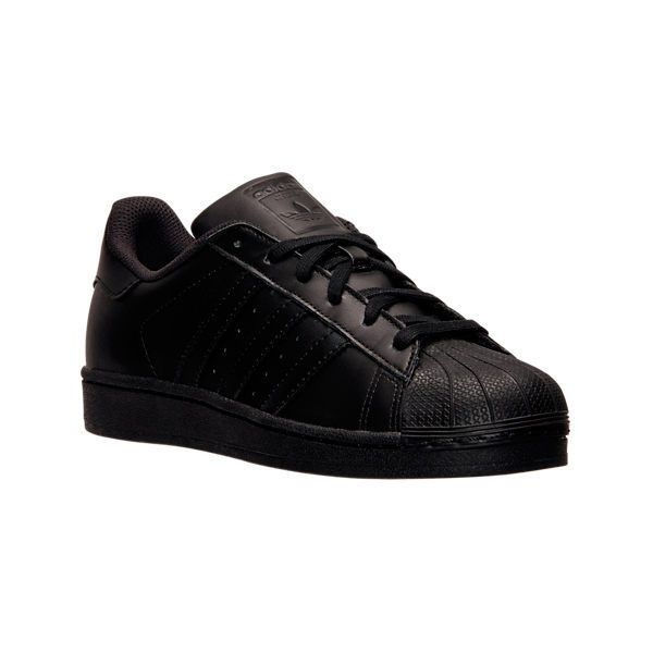 Adidas Men's Superstar Casual Shoes ($80) ❤ liked on Polyvore featuring men's fashion, men's shoes, men's sneakers, black, adidas mens sneakers, mens black leather shoes, mens black leather sneakers, mens black shoes and mens shoes