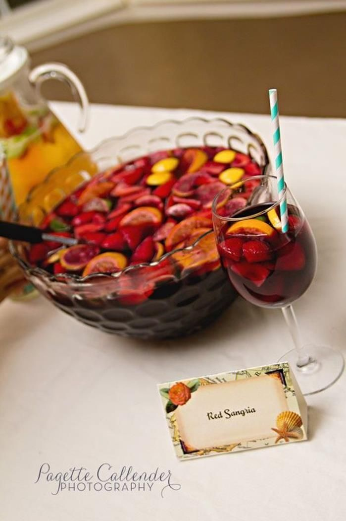 You must include your mom's amazing sangria :) Perfect summer drink and beautiful presentation