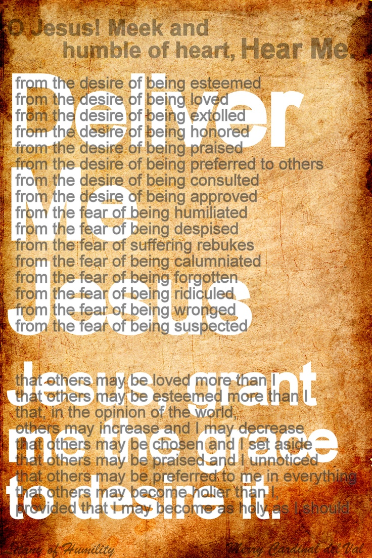 Catholic litany of humility