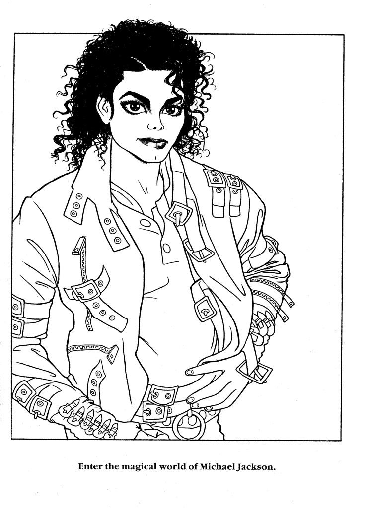 Michael Jackson coloring book PDF