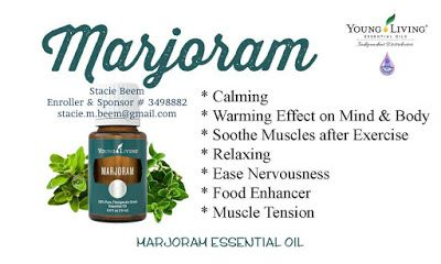 You Know I Love to Share: Marjoram Essential Oil Benefits With Young Living ...