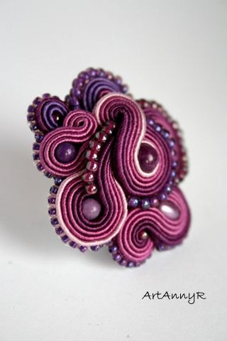 soutache - ring  mishtiart.blogspot.com - follow me! :)