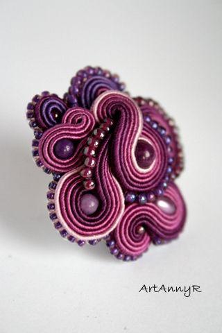 soutache - ring  mishtiart.blogspot.com - follow me! :)