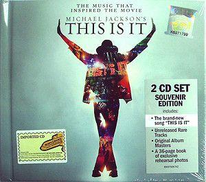 Soul:Michael Jackson-This Is It (Souvenir Edition) 2 CD Set