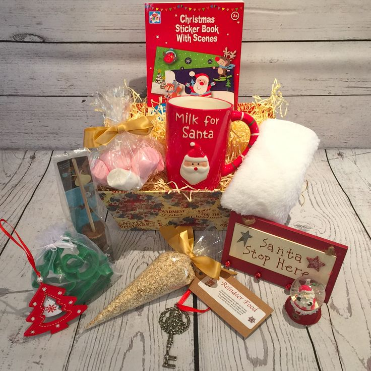 Christmas is such a special time for children and adults! Christmas Eve is so exciting for children and what better way to celebrate with our Christmas Eve hamper! Full of delightful items that will make their day special. Hamper contents x1 Christmas themed tray x1 Milk for Santa mug x1 Gnaw milk chocolate hot chocolate dip x1 Reindeer food (not edible) x1 Santa key x1 Christmas tree decoration x1 Christmas snow ball x1 Christmas cookie cutters x1 Soft white washcloth x1 Bag of marshmallows…