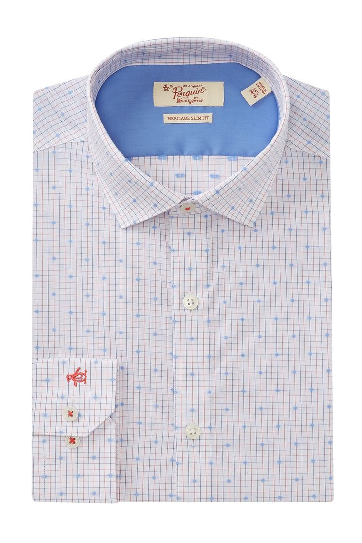 Dobby Check Slim Fit Dress Shirt by Original Penguin on @nordstrom_rack