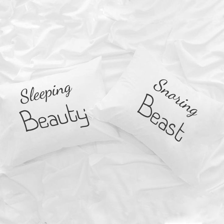 Sleeping Beauty Snoring beast couple pillowcases, His and Hers cushion case, gift idea for him her Boyfriend girlfriend Wedding Anniversary by CreativePillowLV on Etsy