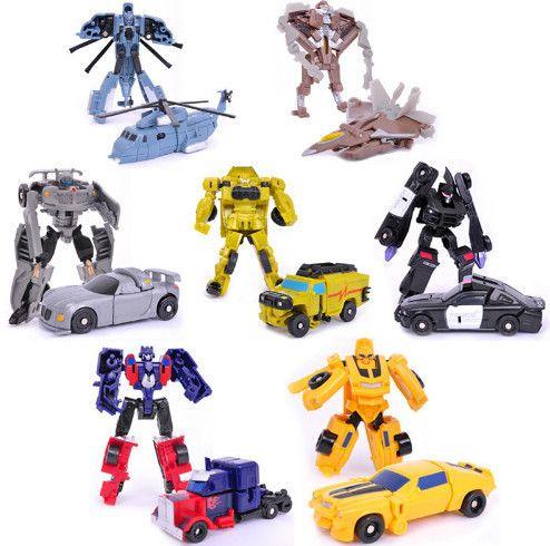 Преобразование 1 шт./лот Детские Классические Робот Автомобили Игрушки Для Детей Действий и Игрушечные Фигурки