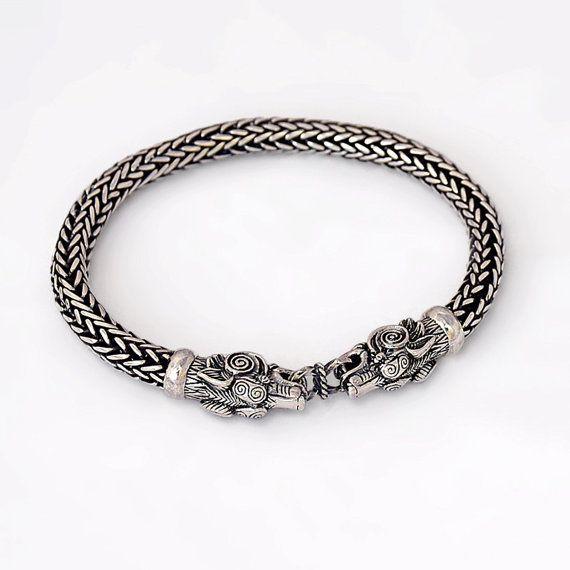 VIKING Wolf Head Bracelet. Bear Head Bracelet. Viking
