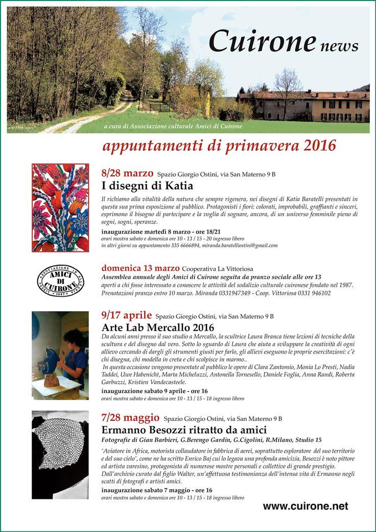 2016 Manifesto Spazio Giorgio Ostini Ritratto da amici  Vergiate di  Cuirone-news dal 7 maggio al 28 maggio