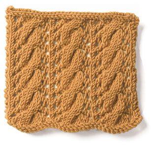 large Cable And EyeletKnits Crochet, Eyelet Knits, Eyelet Stitches, Crochet Stitches, Crochet Crafts, Knits Cable, Crochet Pattern, Crochet Knits, Knits Stitches
