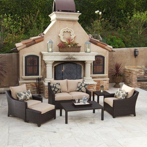 RST Outdoor Delano Deep Seating Love Seat, Club Chairs, Coffee And End Table  Set