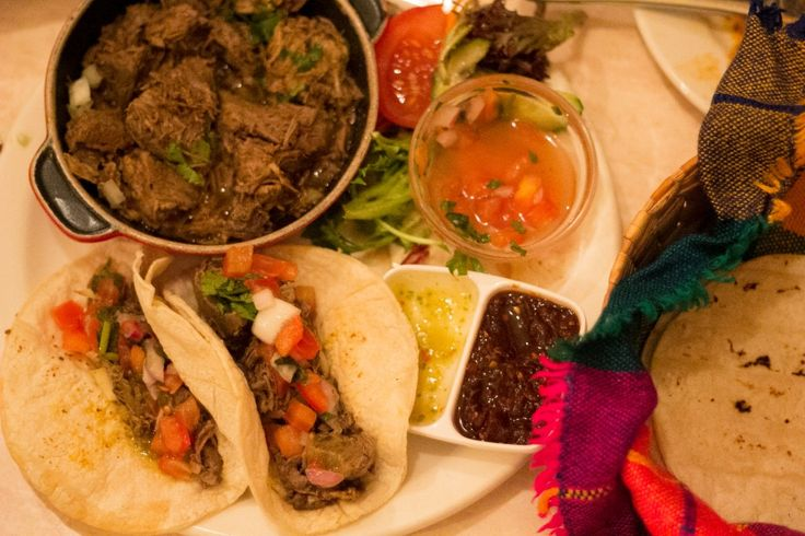 Lamb Tacos: The white corn tortillas were soft and warm served in a little basket wrapped in colourful fabric. The tomatillo salsa was a great accompaniment (a green tomato looking fruit, actually a part of the gooseberry family, with a tart flavour). It was certainly a large serving and we weren't sure about our choice of lamb so if you want a more traditional taco then try the chicken or be adventurous and try the fried cactus.