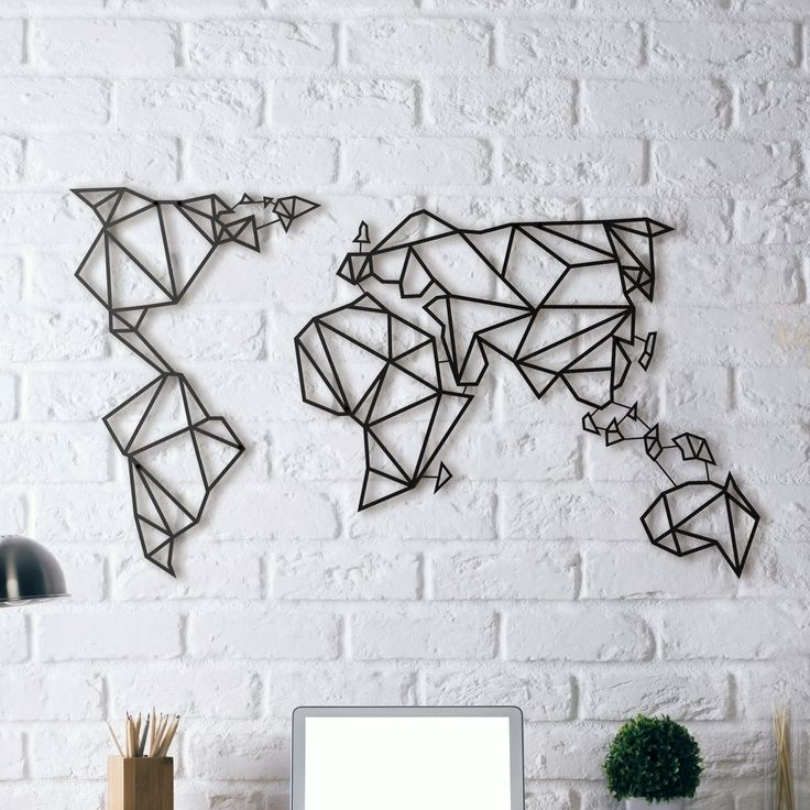 Genial Awesome Decoration Murale Design Metal Metal Wall Decoration World Map
