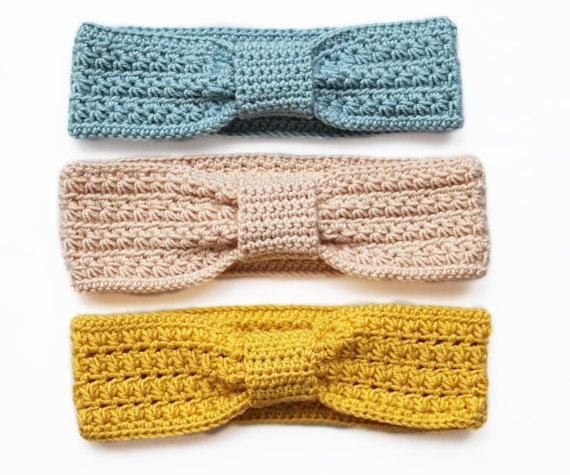 crocheted childrens headband ear warmers. DIY for Mila