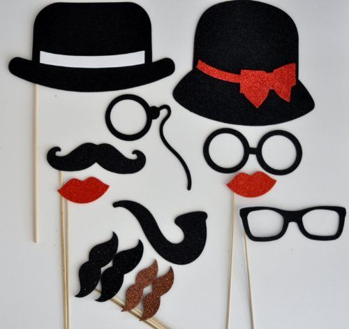 13 PIECES Mustache Party Mustache on a Stick Photo Booth Party Props by picwrap, http://www.amazon.com/dp/B00DPOTOXM/ref=cm_sw_r_pi_dp_bg5csb1F9ZB8Y