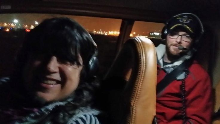 E L James and Dana Brunetti fly home from Fifty Shades of Grey set via Charlie Tango! (Photo credit: Dana Brunetti Facebook https://www.facebook.com/photo.php?fbid=10151952800013131&set=a.485062658130.260737.570143130&type=1&theater)