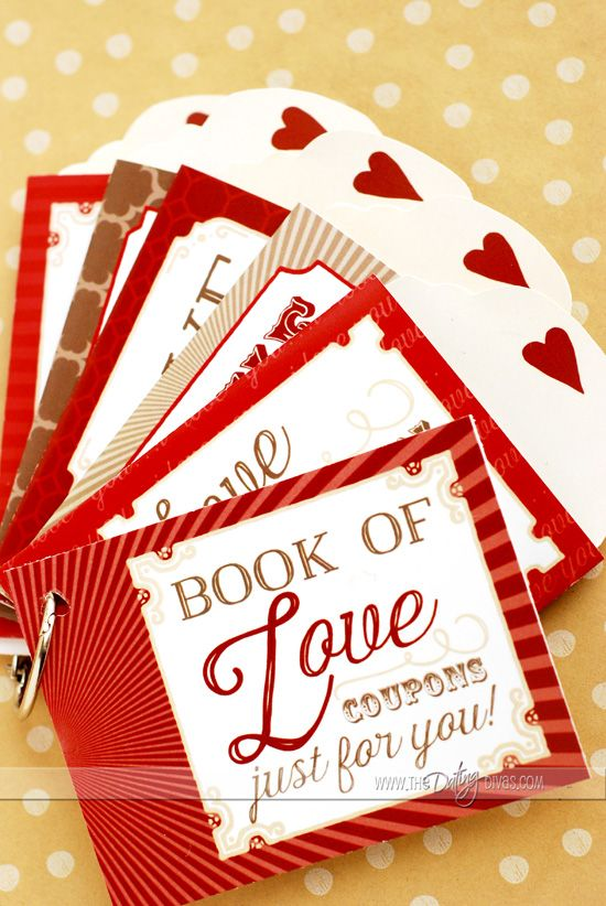DIY Love Coupons with pockets for little surprises!