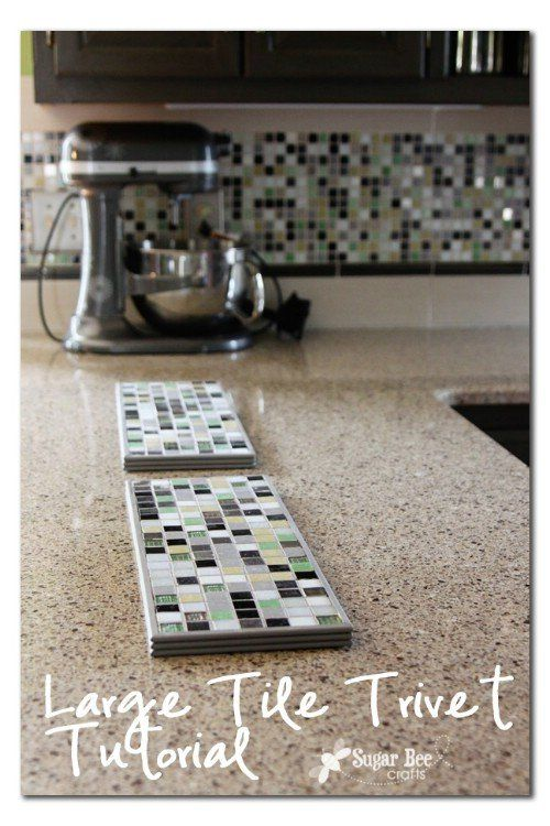 """Large Tile Trivet from """"20 of the Most Adorable DIY Kitchen Projects You've Ever Seen"""" (diyncrafts.com)"""