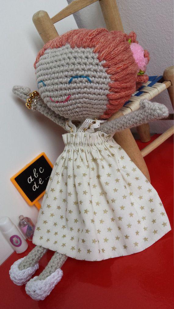 Ballerina Doll / Handmade Doll / Amigurumi Doll / by Ganxetimes