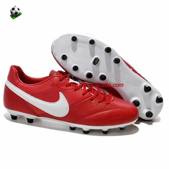 Scarpette Da Calcio Nike Tiempo Premier FG 2013 Classic 94 Rosso Bianco Comprare