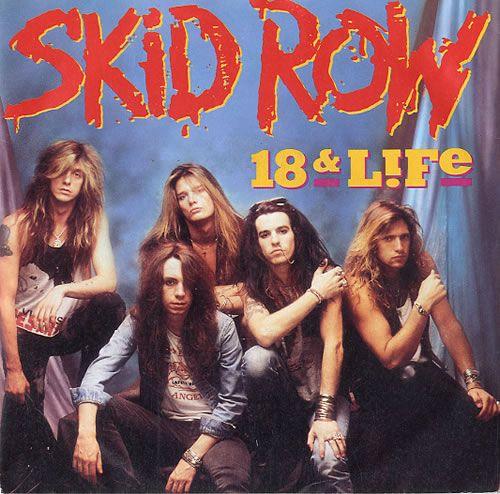 """Skid Row (80S) 18 & Life UK 7"""" Vinyl  Record A8883 18 & Life Skid Row (80s) 075678888373 588921"""
