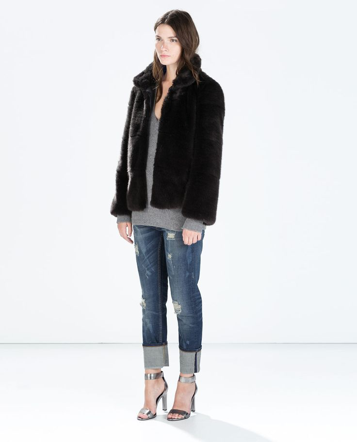 FUR JACKET - Outerwear - WOMAN | ZARA Czech Republic