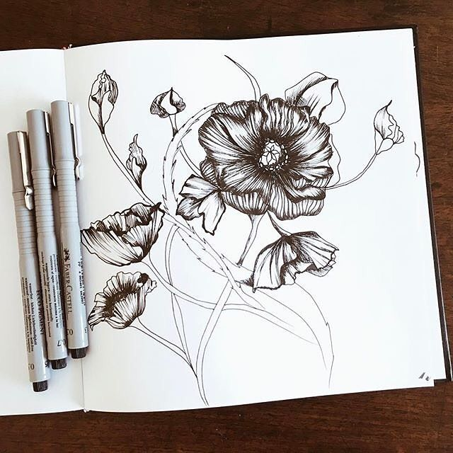 I came back so thrilled and full of ideas! Been Working a lot these past weeks. We're in home now and I'll be sharing some inspiring photos from the trip over the next few days. Hope you like it! #sketch #drawing #art #draw #doodle #illustration #sketchbook #artwork #sketching #instaart #ink #design #drawings #doodles #doodling #artist #creative #surfacedesign #patterndesign #floral #creativeprocess #patternobserver #patternbank #barbiemcguire IG: @barbie.mcg...