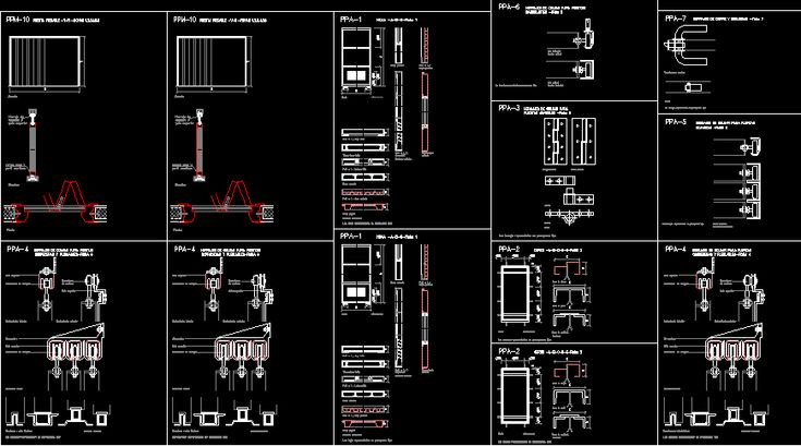 Planos de puertas plegables dwgdibujo de autocad - Zapatero metalico 5 puertas ...