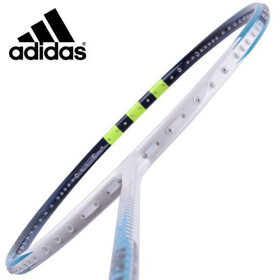 adidas Badminton Racket SPIELLER F09 SMU White Blue Racquet String with Cover G5 #adidas