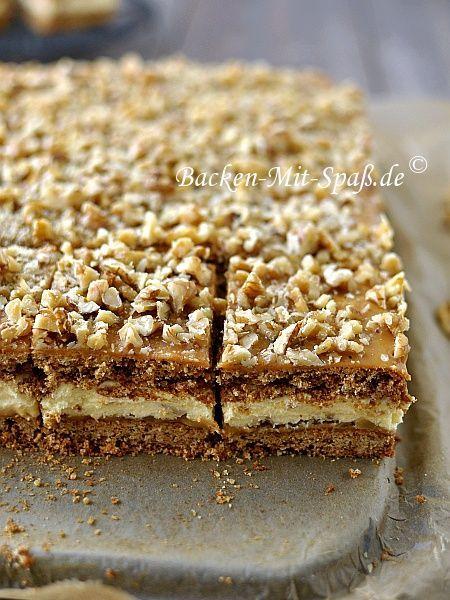 Honigkuchen mit Puddingcreme und Dulce de leche