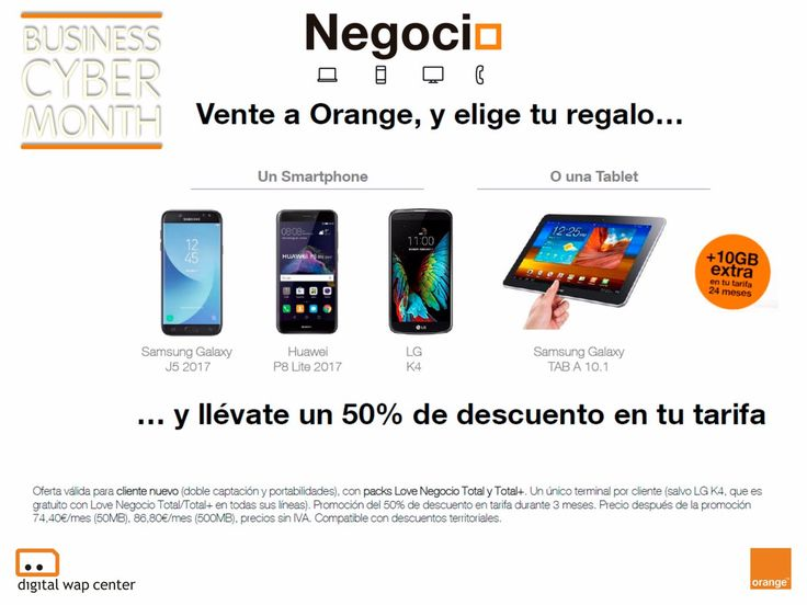 ¿Tienes un negocio? 💼 ven y elige tu regalo y llévate un 50% de descuento en tu tarifa #CyberMonth en Orange #autonomos #empresas