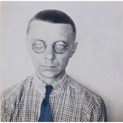 "ANONYMOUS PORTRAIT OF JOOST SCHMIDT, STUDENT OF THE BAUHAUS SCHOOL ""Schmidtchen von Bauhaus"""