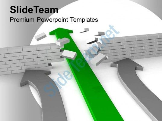 arrow breaking floor target loss powerpoint templates ppt themes and graphics 0113 Slide01