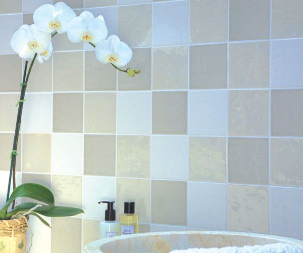 Neutrals A series of beautiful and levander tiles in size 11 * 11 cm. Available in many colors. Here a combination of Vanilla, Seagrass and...