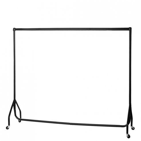 Black 6ft-Wide Heavy-Duty Clothes Rail - H1550 x W1830 x D510 mm
