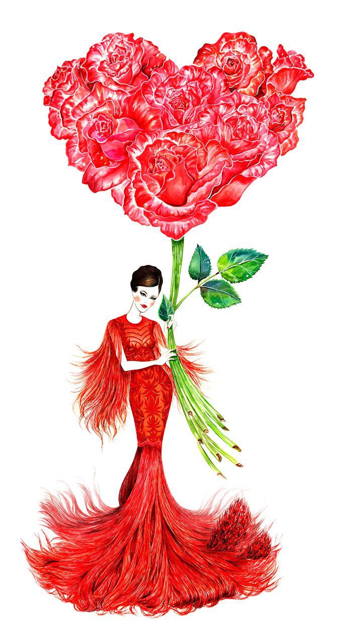#Monique Lhuillier Fall 2013 RTW #Flower Mood (series) #Sunny Gu
