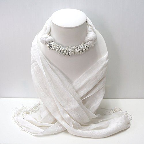 White Fashion Jewelry Scarf Necklace Decorations With Whi... https://www.amazon.com/dp/B01NB1SKOJ/ref=cm_sw_r_pi_dp_x_s.D1yb9XPYXXS