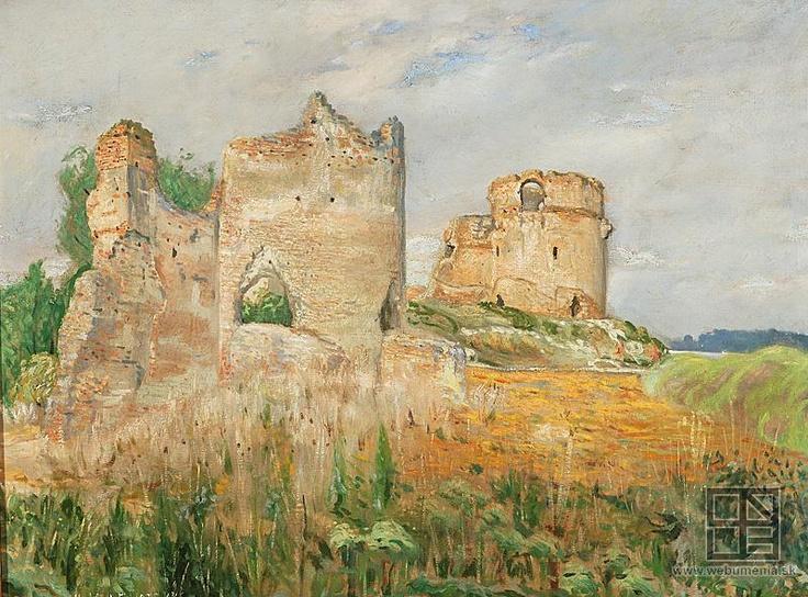 Karol Miloslav Lehotský - Ruins of the Báč castle / Zrúcaniny hradu Báč (1902)