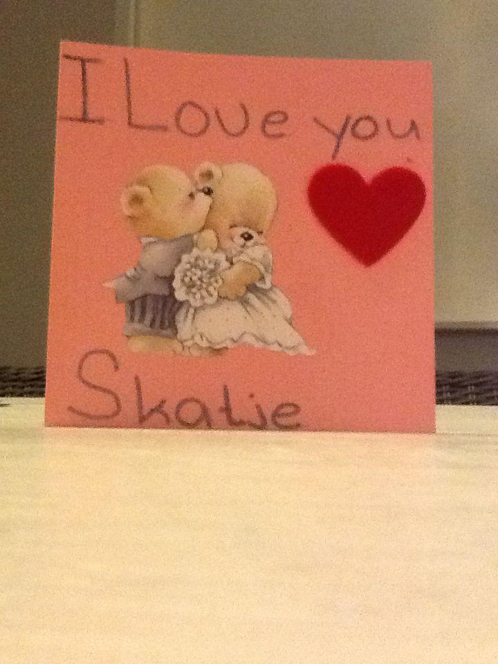 Een leuke kaart gemaakt voor mijn lieve vriendje.x