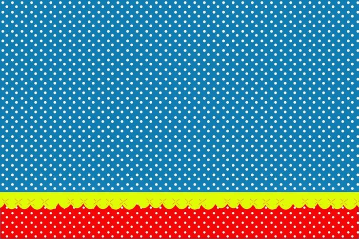 Red, Yellow and Blue: Free Printable Invitations.