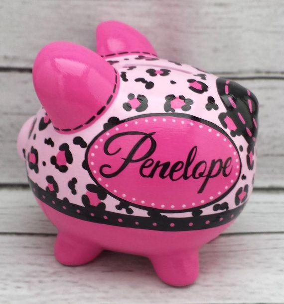 Caliente rosa y negro guepardo impresión pintada a por Alphadorable