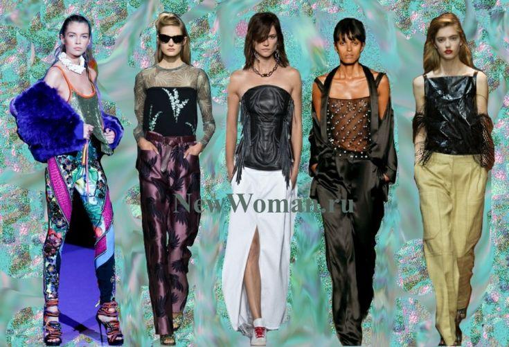 Новогодний образ Молодость и креатив - лосины, топы, юбка, брюки