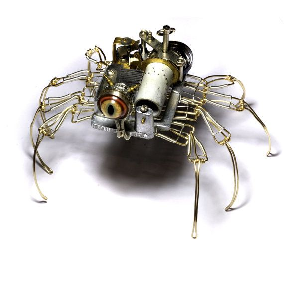 Steampunk Musical Spider Robot Sculpture with by CatherinetteRings - love their work!